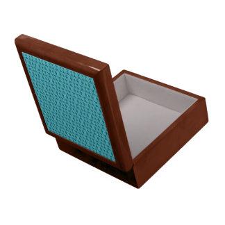 Cute Aqua Pattern Large Square Gift Box