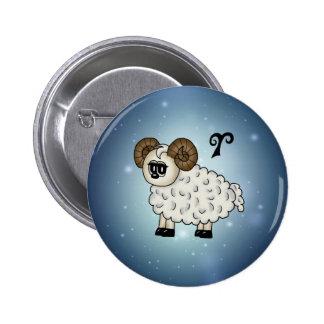 cute Aries Zodiac Button