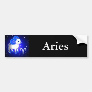 Cute Aries Zodiac Car Bumper Sticker