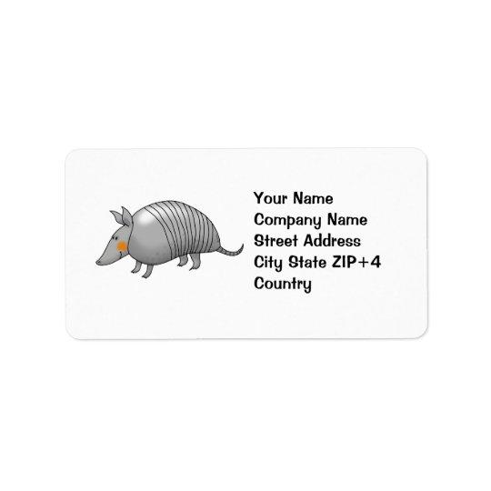 Cute armadillo label