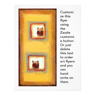 Cute art yak couple fun relationship painting 21.5 cm x 28 cm flyer