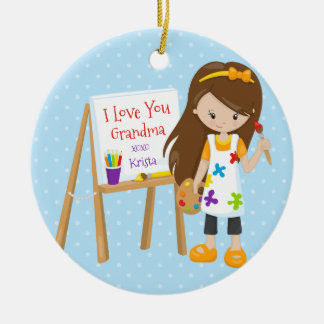 Cute Artist Grandparent Christmas Ornament