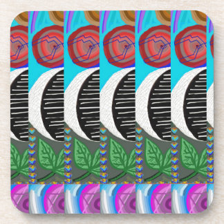 CUTE Artistic MOON Pattern : By NavinJOSHI Drink Coasters
