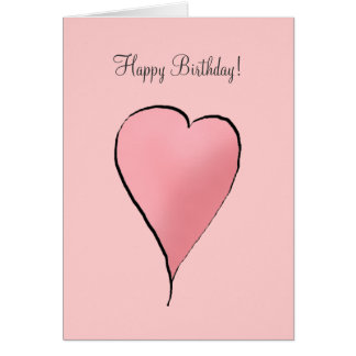 Cute as a Bug · Pink Heart Greeting Cards