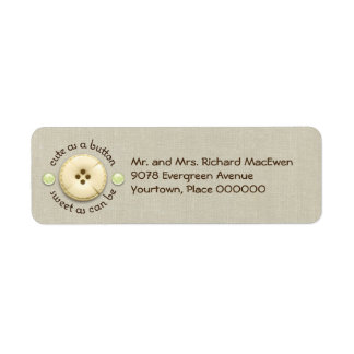 Cute as a Button Baby Return Address Label