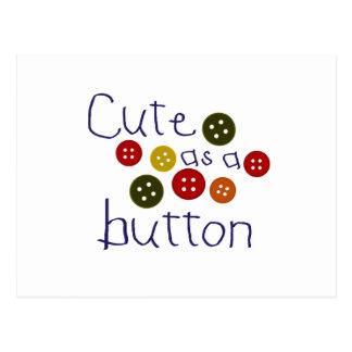 Cute as a button boy postcards