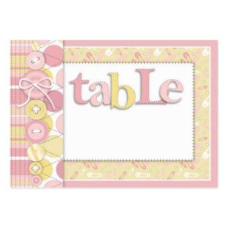 Cute as a Button Girl Table Card Flat Mini Business Card Template