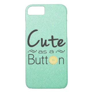Cute as a Button Iphone case