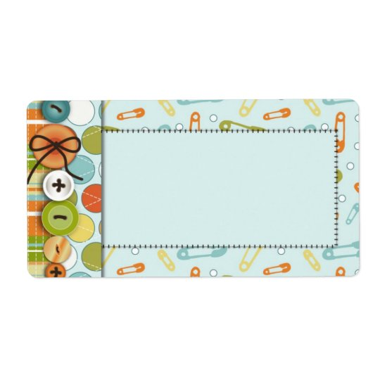 Cute as a Button Name Tag Shipping Label