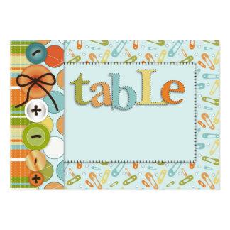 Cute as a Button Table Card Flat Mini Business Card Templates