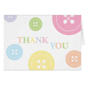Cute as a Button Thank You Card