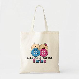 Cute As A Button Twin Girl & Boy Tote Bags