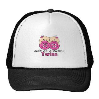 Cute As A Button Twin Girls Mesh Hat