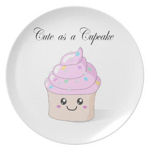 Cute as a Cupcake kawaii plate