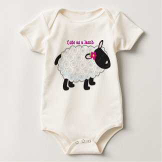 Cute as a Lamb Infant Sleeper Baby Bodysuit