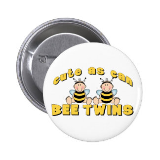 Cute As Can BEE Twins Button