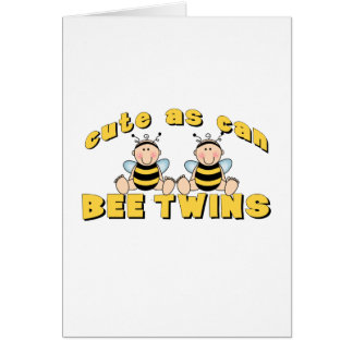 Cute As Can BEE Twins Greeting Card