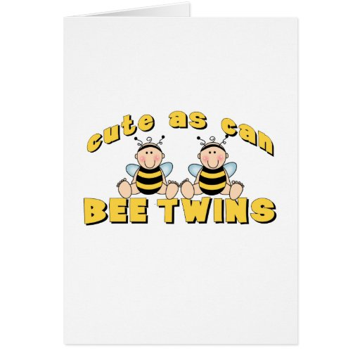 Cute As Can BEE Twins Cards
