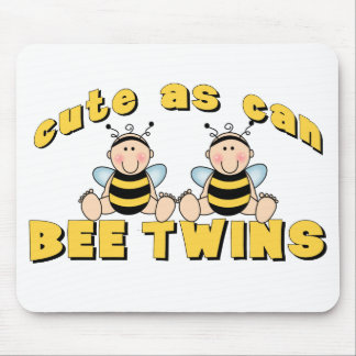 Cute As Can BEE Twins Mousepads