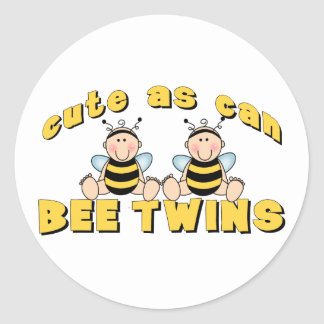 Cute As Can BEE Twins Stickers