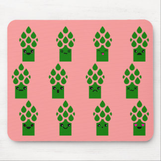 Cute Asparagus Mouse Pad