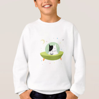Cute Astronaut Cat - Outer Space Kitty Sweatshirt
