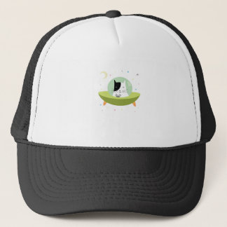 Cute Astronaut Cat - Outer Space Kitty Trucker Hat