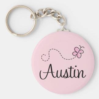 Cute Austin Texas T-shirt Basic Round Button Key Ring