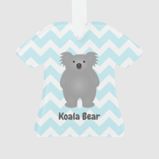 Cute Australia Baby Koala Bear Add Your Name Ornament