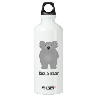 Cute Australia Baby Koala Bear Add Your Name Water Bottle