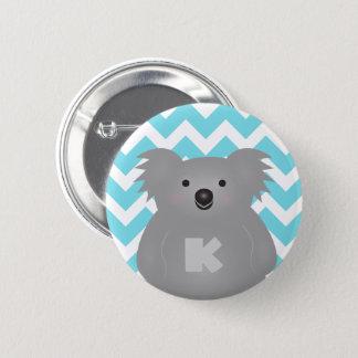 Cute Australia Baby Koala Bear Monogram 6 Cm Round Badge