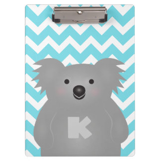 Cute Australia Baby Koala Bear Monogram Clipboard