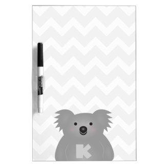 Cute Australia Baby Koala Bear Monogram Dry Erase Board