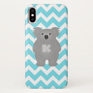 Cute Australia Baby Koala Bear Monogram iPhone X Case