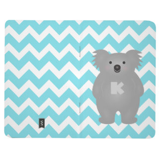 Cute Australia Baby Koala Bear Monogram Journal