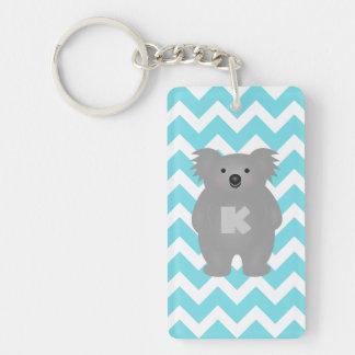 Cute Australia Baby Koala Bear Monogram Key Ring