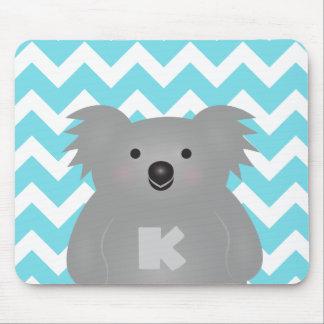 Cute Australia Baby Koala Bear Monogram Mouse Pad
