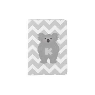 Cute Australia Baby Koala Bear Monogram Passport Holder