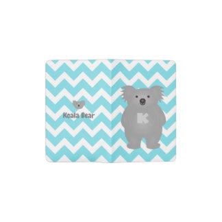 Cute Australia Baby Koala Bear Monogram Pocket Moleskine Notebook