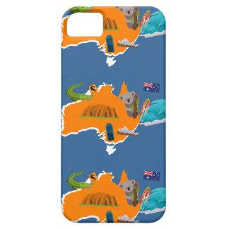 Cute Australia Map iPhone Case
