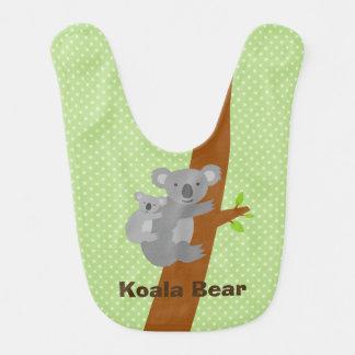 Cute Australian koala bear polka dots baby bib