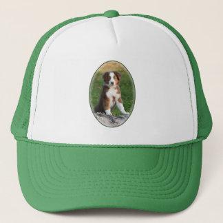 Cute Australian Shepherd Dog Puppy Photo - cap