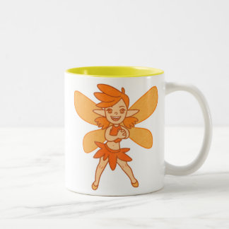 Cute Autumn Fairy Two-Tone Coffee Mug