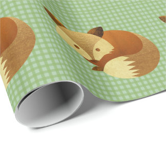 Cute Autumn Fox Wrapping Paper