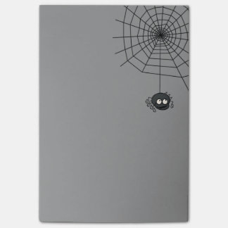 Cute Autumn Grey Halloween Spiderweb Post Its Post-it Notes