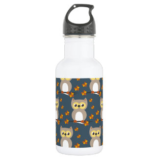 Cute Autumn Owl Pattern 532 Ml Water Bottle