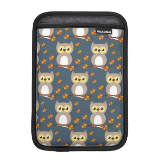 Cute Autumn Owl Pattern iPad Mini Sleeve