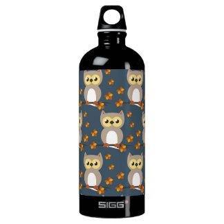 Cute Autumn Owl Pattern SIGG Traveller 1.0L Water Bottle