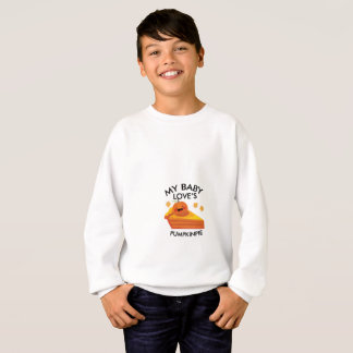 Cute Autumn Pregnancy My Baby Loves Pumpkin Pie Sweatshirt