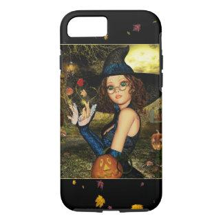 Cute Autumn Witch Girl iPhone 7 Case